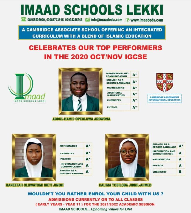 Imaad Latest IGCSE Ambassadors